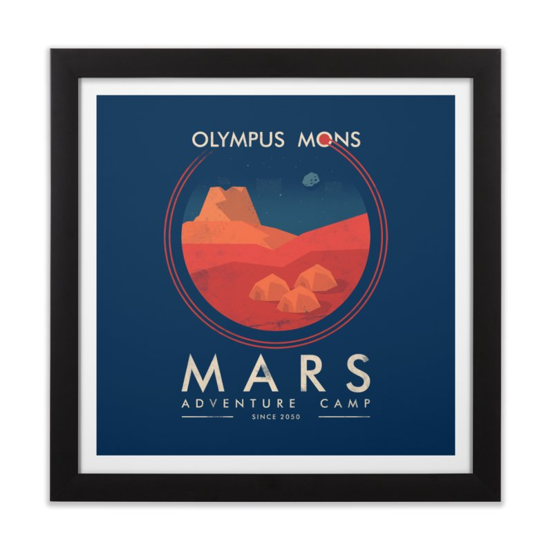 Mars Adventure Camp Home Framed Fine Art Print by sachpica's Artist Shop