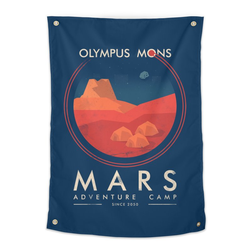 Mars Adventure Camp Home Tapestry by sachpica's Artist Shop