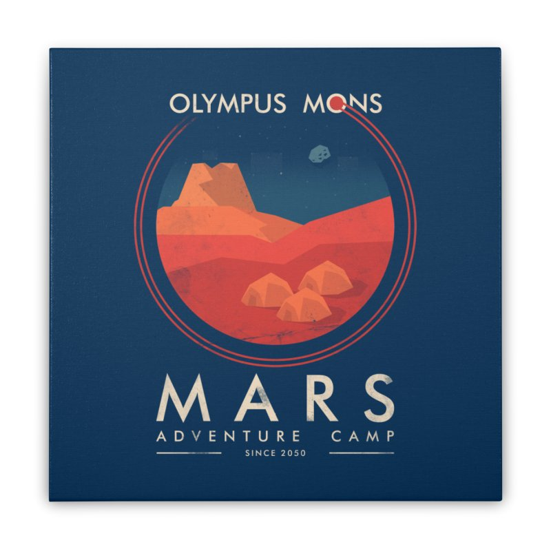 Mars Adventure Camp Home Stretched Canvas by sachpica's Artist Shop