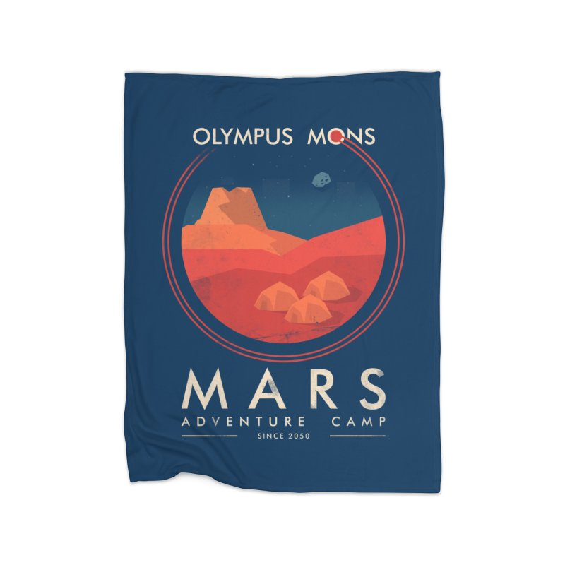 Mars Adventure Camp Home Blanket by sachpica's Artist Shop