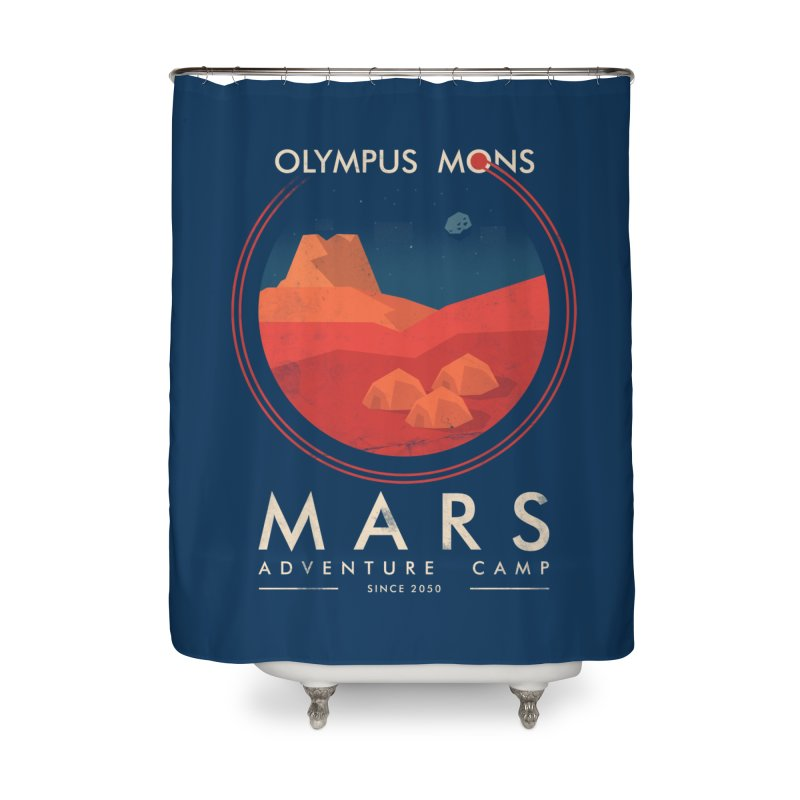 Mars Adventure Camp Home Shower Curtain by sachpica's Artist Shop