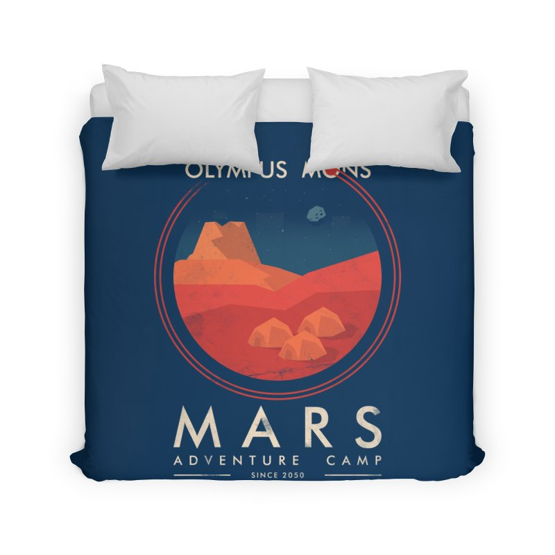 Mars Adventure Camp Home Duvet by sachpica's Artist Shop