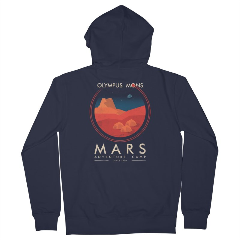 Mars Adventure Camp Women's Zip-Up Hoody by sachpica's Artist Shop