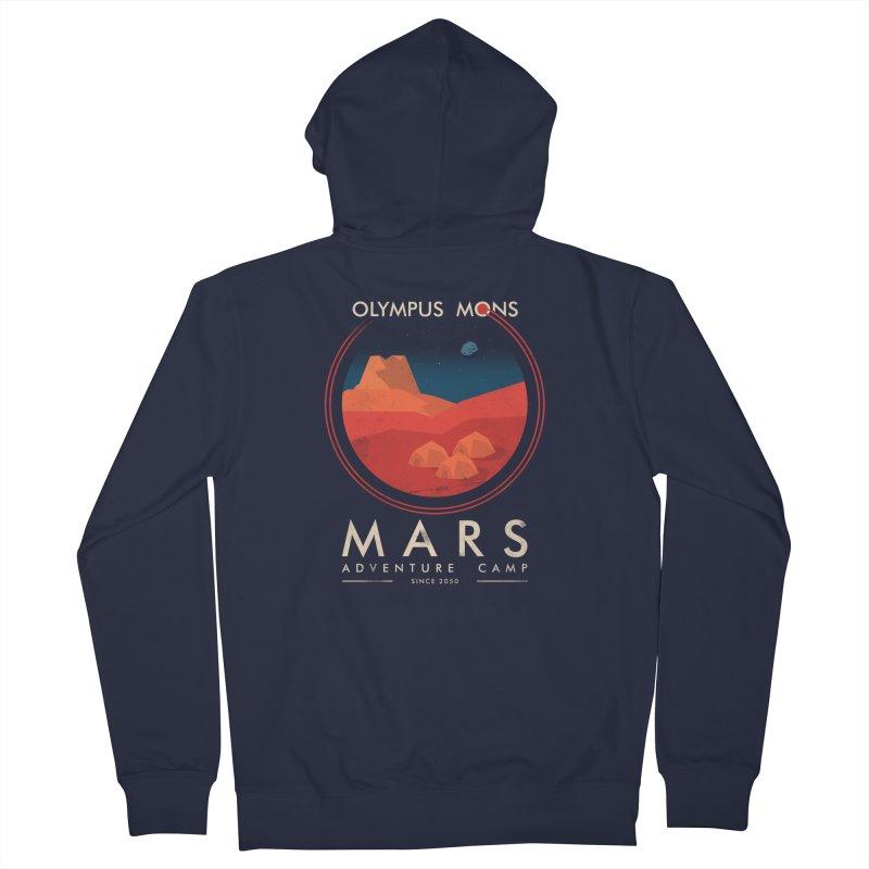 Mars Adventure Camp Men's Zip-Up Hoody by sachpica's Artist Shop