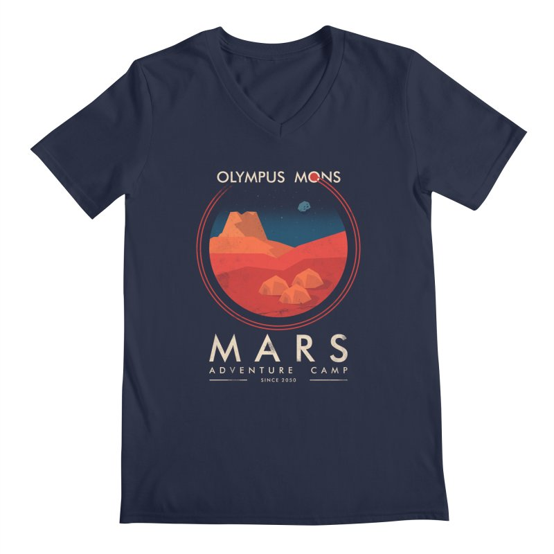 Mars Adventure Camp Men's V-Neck by sachpica's Artist Shop