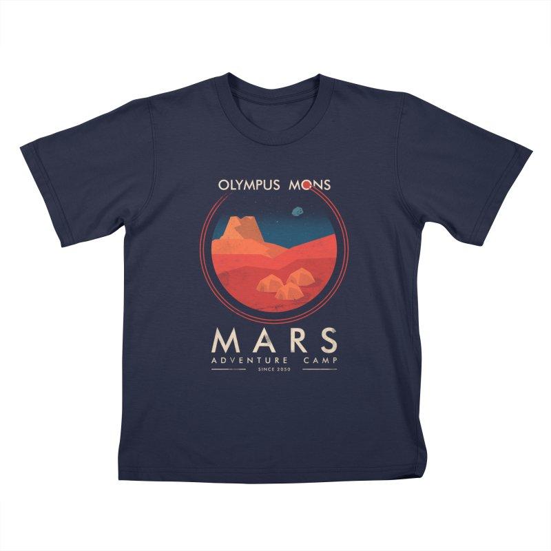 Mars Adventure Camp Kids T-shirt by sachpica's Artist Shop