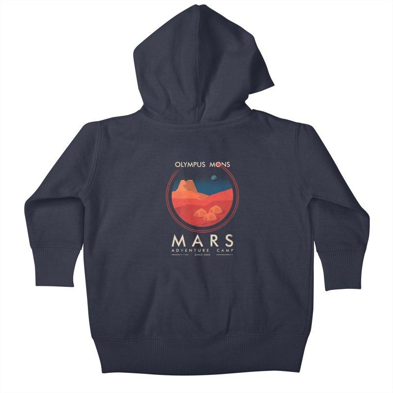 Mars Adventure Camp Kids Baby Zip-Up Hoody by sachpica's Artist Shop