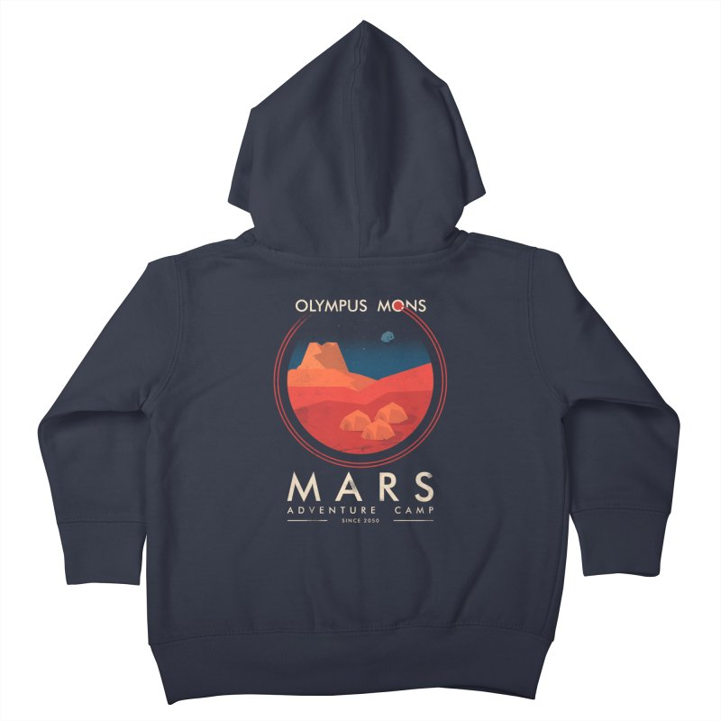 Mars Adventure Camp Kids Toddler Zip-Up Hoody by sachpica's Artist Shop