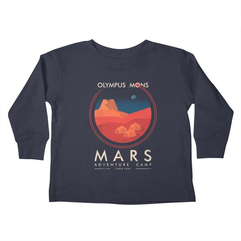 Mars Adventure Camp Kids Toddler Longsleeve T-Shirt by sachpica's Artist Shop