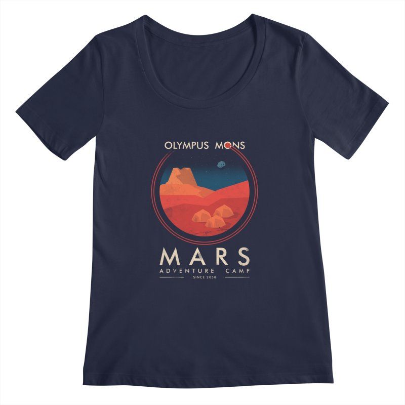 Mars Adventure Camp Women's Scoopneck by sachpica's Artist Shop