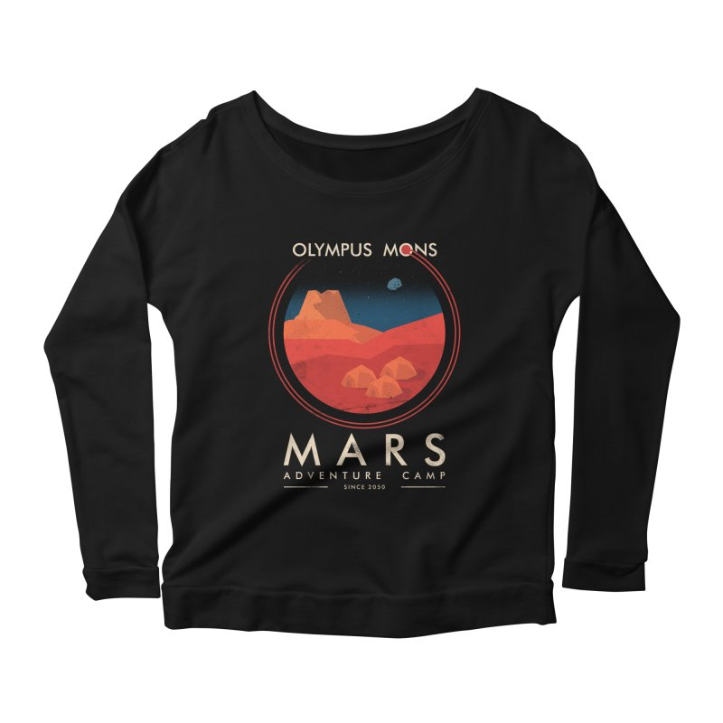 Mars Adventure Camp Women's Longsleeve Scoopneck  by sachpica's Artist Shop