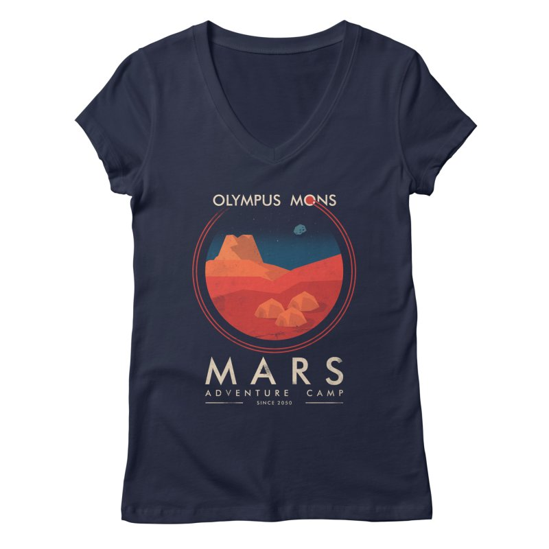 Mars Adventure Camp Women's V-Neck by sachpica's Artist Shop