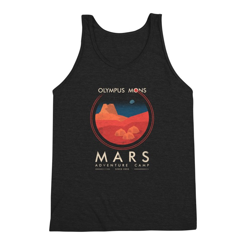 Mars Adventure Camp Men's Triblend Tank by sachpica's Artist Shop