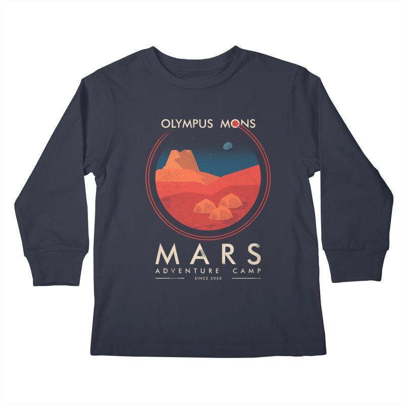 Mars Adventure Camp Kids Longsleeve T-Shirt by sachpica's Artist Shop