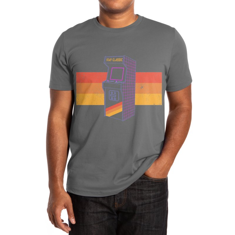 Stay Classic - Arcade 80s Men's T-Shirt by sachpica's Artist Shop