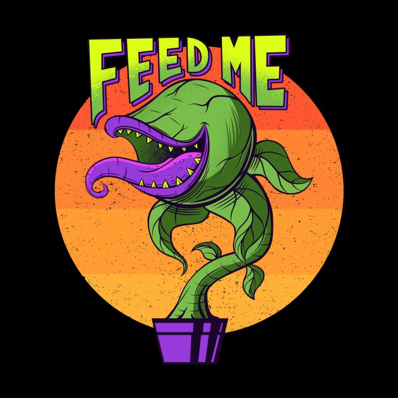 Feed me - 80s Plant Accessories Skateboard by sachpica's Artist Shop