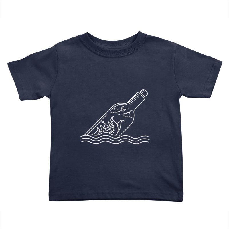 Kraken ina bottle Kids Toddler T-Shirt by sachpica's Artist Shop