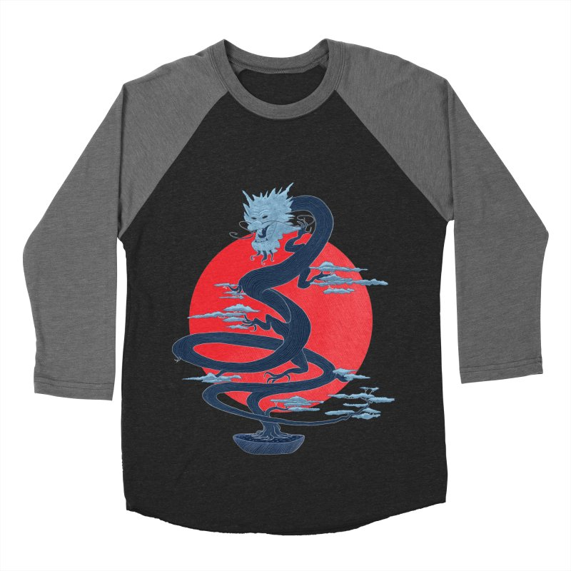 Dragon Bonsai Women's Baseball Triblend T-Shirt by sachpica's Artist Shop