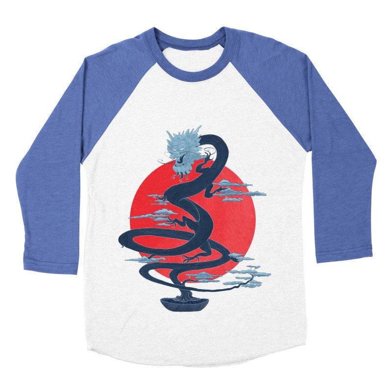 Dragon Bonsai Men's Baseball Triblend T-Shirt by sachpica's Artist Shop