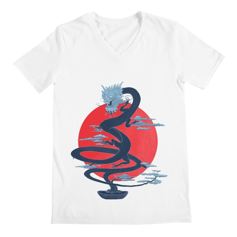 Dragon Bonsai Men's V-Neck by sachpica's Artist Shop