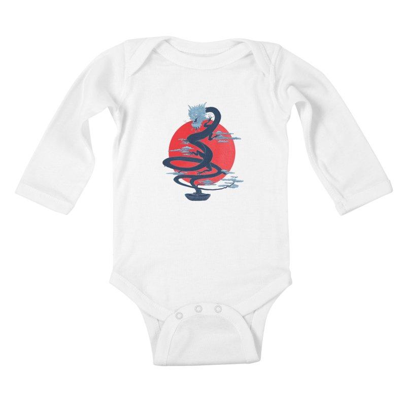 Dragon Bonsai Kids Baby Longsleeve Bodysuit by sachpica's Artist Shop