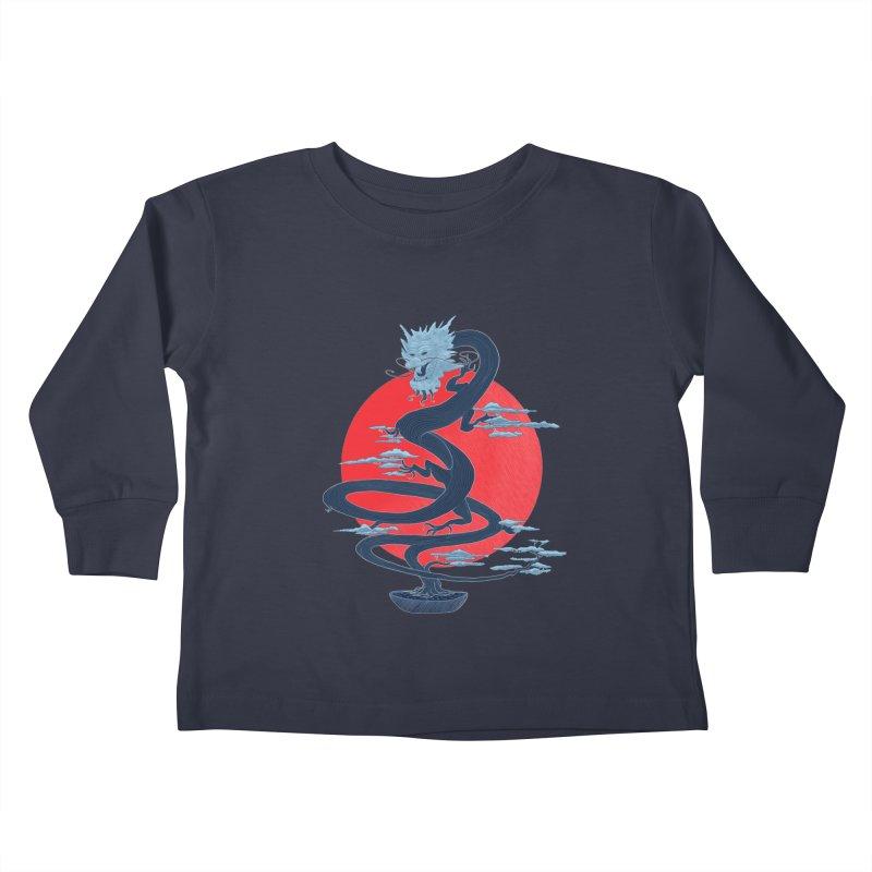 Dragon Bonsai Kids Toddler Longsleeve T-Shirt by sachpica's Artist Shop