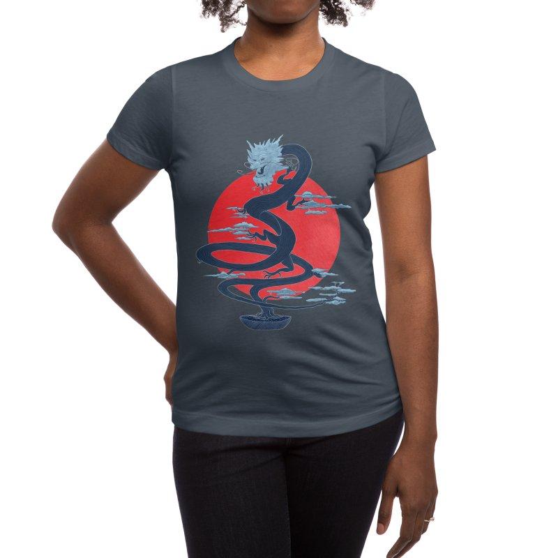 Dragon Bonsai Women's T-Shirt by sachpica's Artist Shop