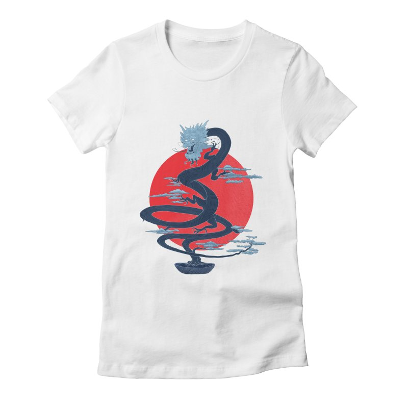 Dragon Bonsai Women's Fitted T-Shirt by sachpica's Artist Shop