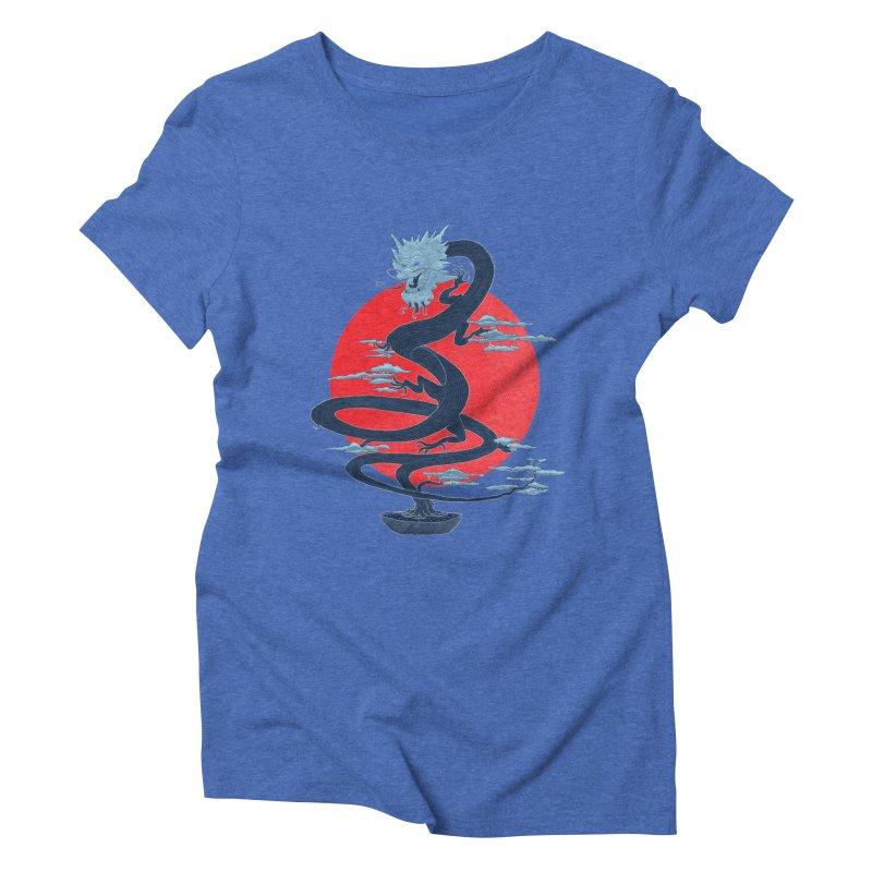 Dragon Bonsai Women's Triblend T-shirt by sachpica's Artist Shop