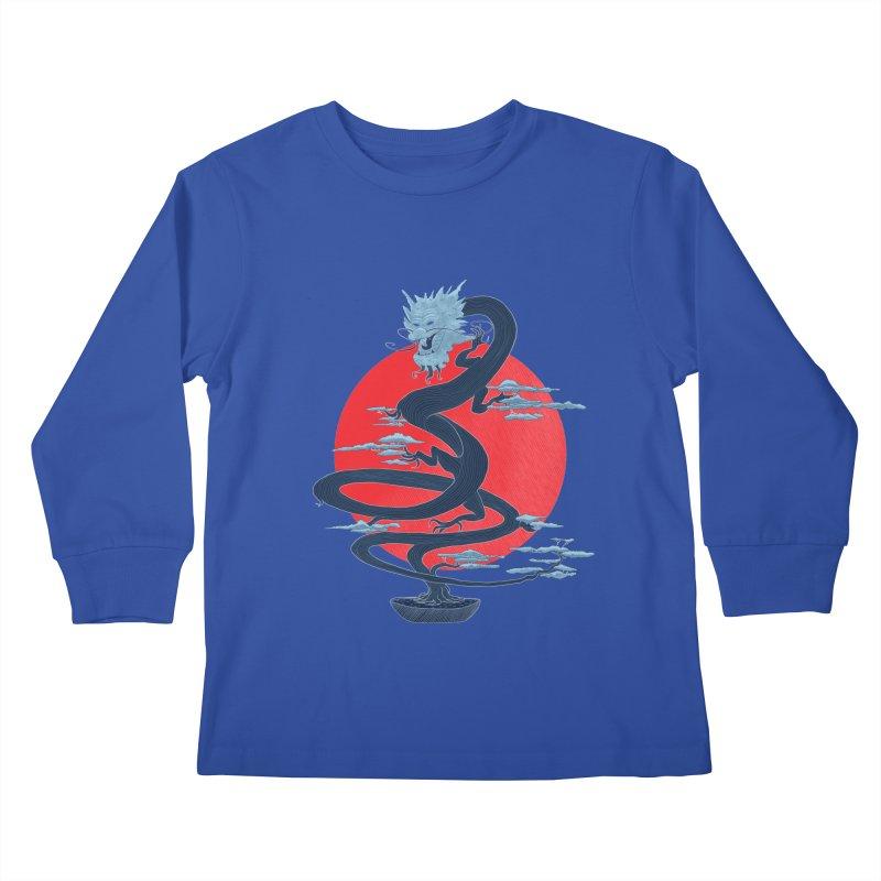 Dragon Bonsai Kids Longsleeve T-Shirt by sachpica's Artist Shop