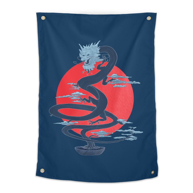 Dragon Bonsai Home Tapestry by sachpica's Artist Shop