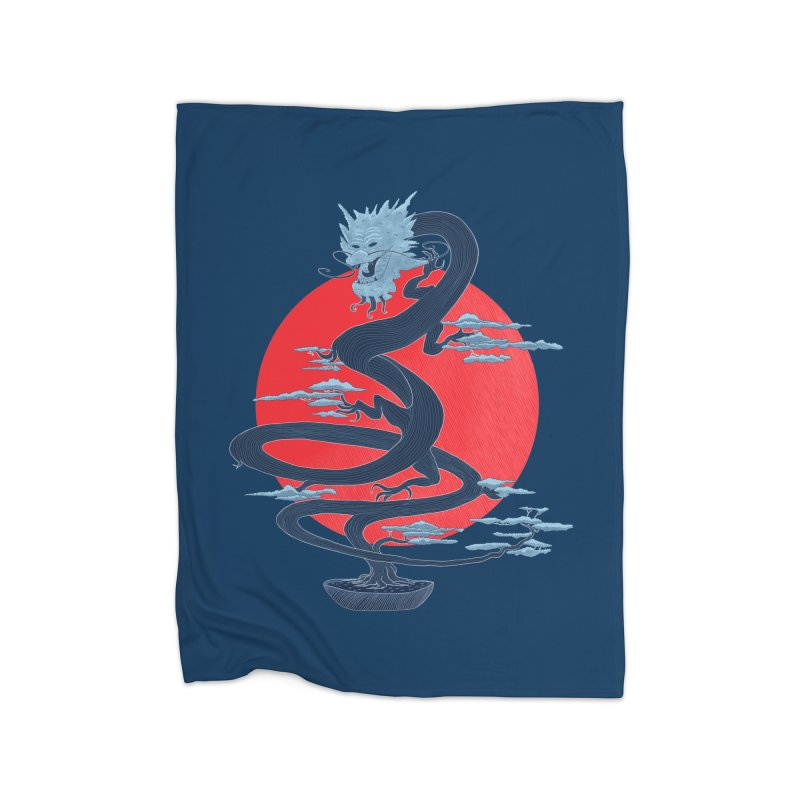 Dragon Bonsai Home Blanket by sachpica's Artist Shop