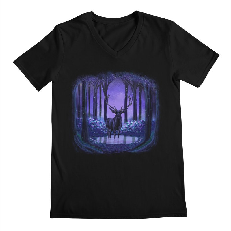 Elf forest Men's V-Neck by sachpica's Artist Shop