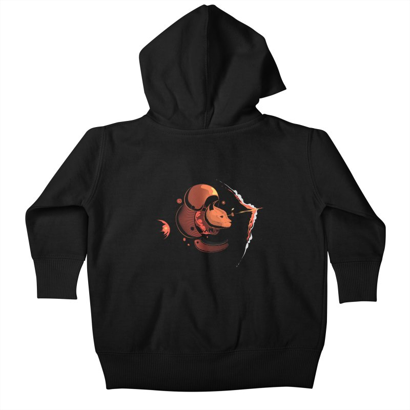 Nine Lives Kids Baby Zip-Up Hoody by sachpica's Artist Shop