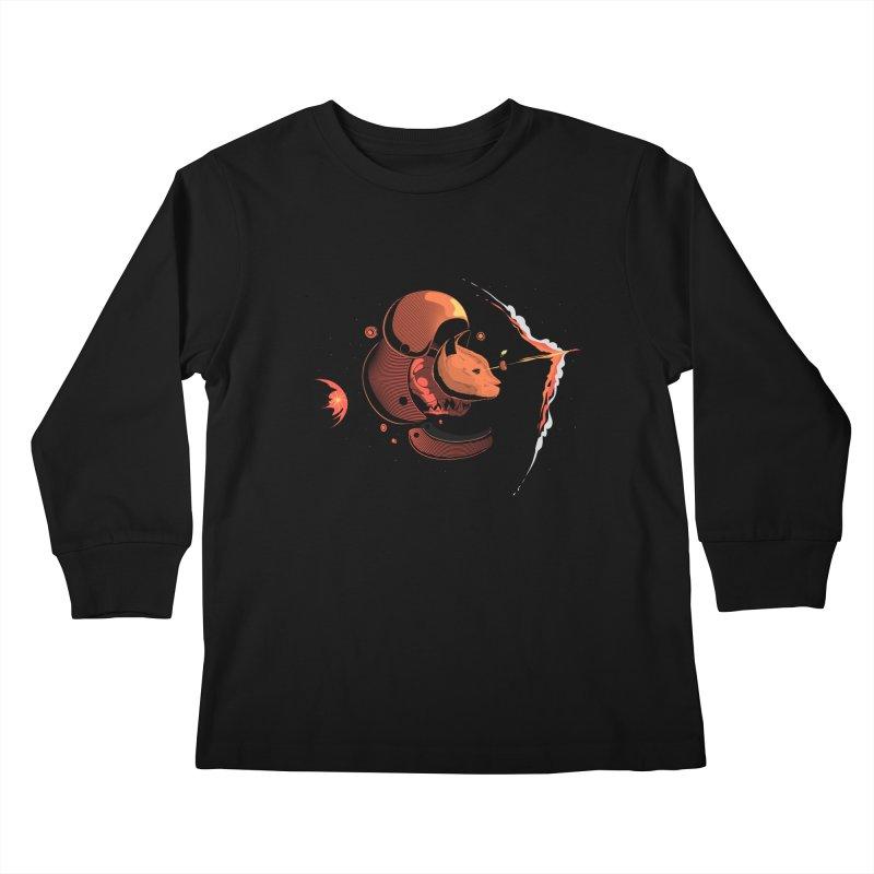 Nine Lives Kids Longsleeve T-Shirt by sachpica's Artist Shop