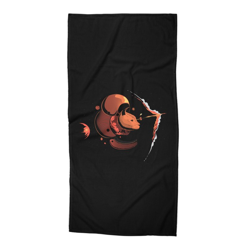 Nine Lives Accessories Beach Towel by sachpica's Artist Shop