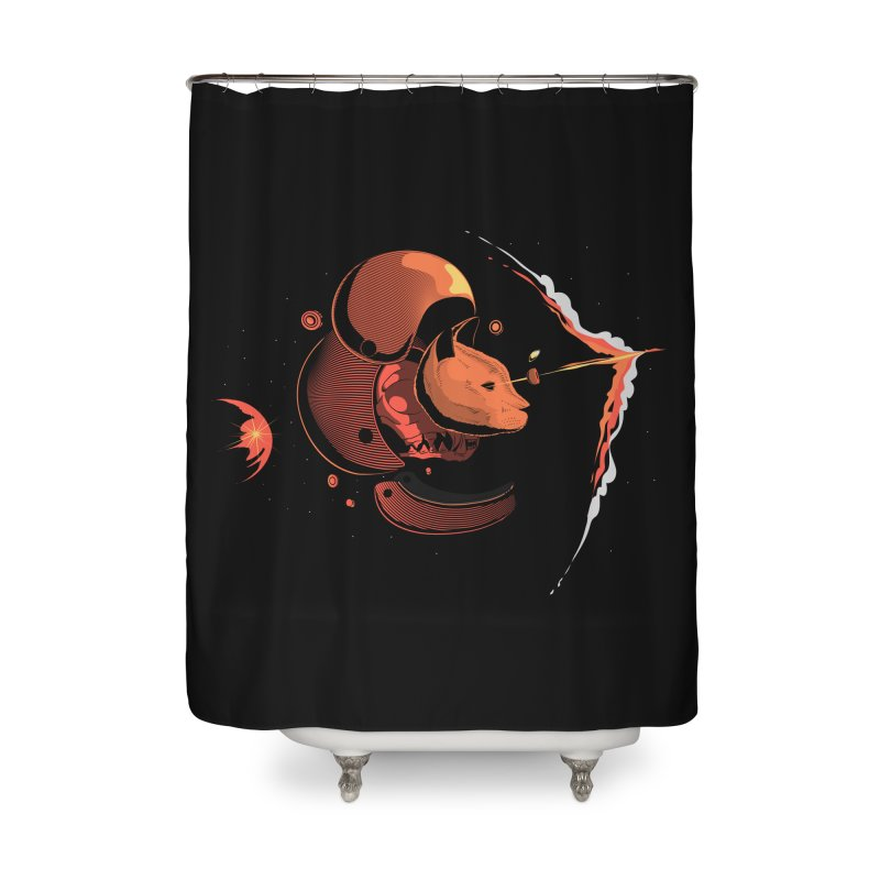 Nine Lives Home Shower Curtain by sachpica's Artist Shop