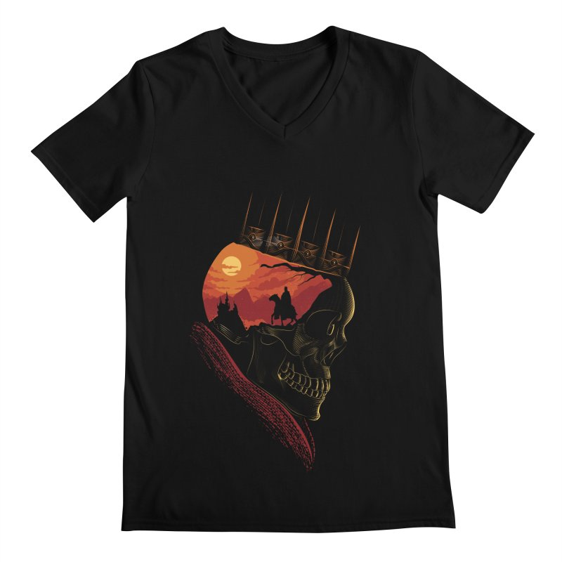 King Nothing Men's V-Neck by sachpica's Artist Shop