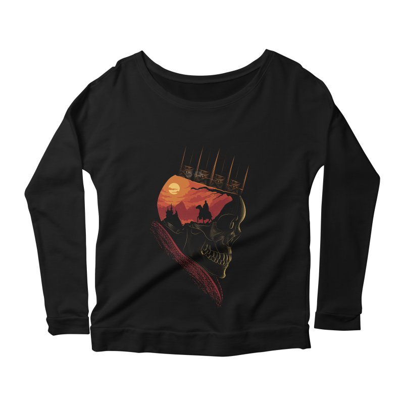 King Nothing Women's Longsleeve Scoopneck  by sachpica's Artist Shop