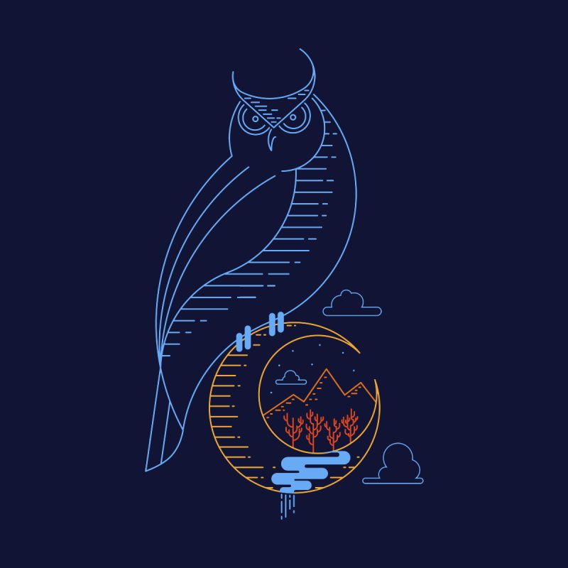 Night Owl by sachpica's Artist Shop