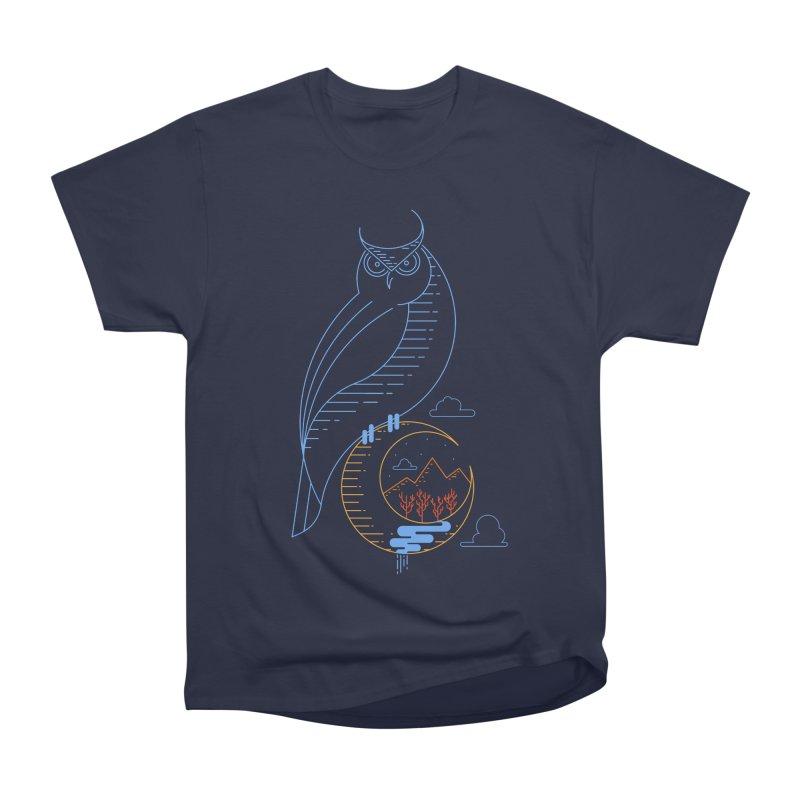 Night Owl Men's Heavyweight T-Shirt by sachpica's Artist Shop