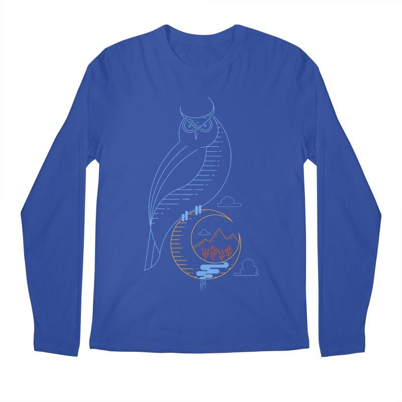 Night Owl Men's Longsleeve T-Shirt by sachpica's Artist Shop