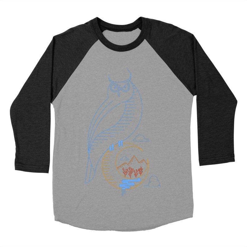 Night Owl Women's Baseball Triblend T-Shirt by sachpica's Artist Shop