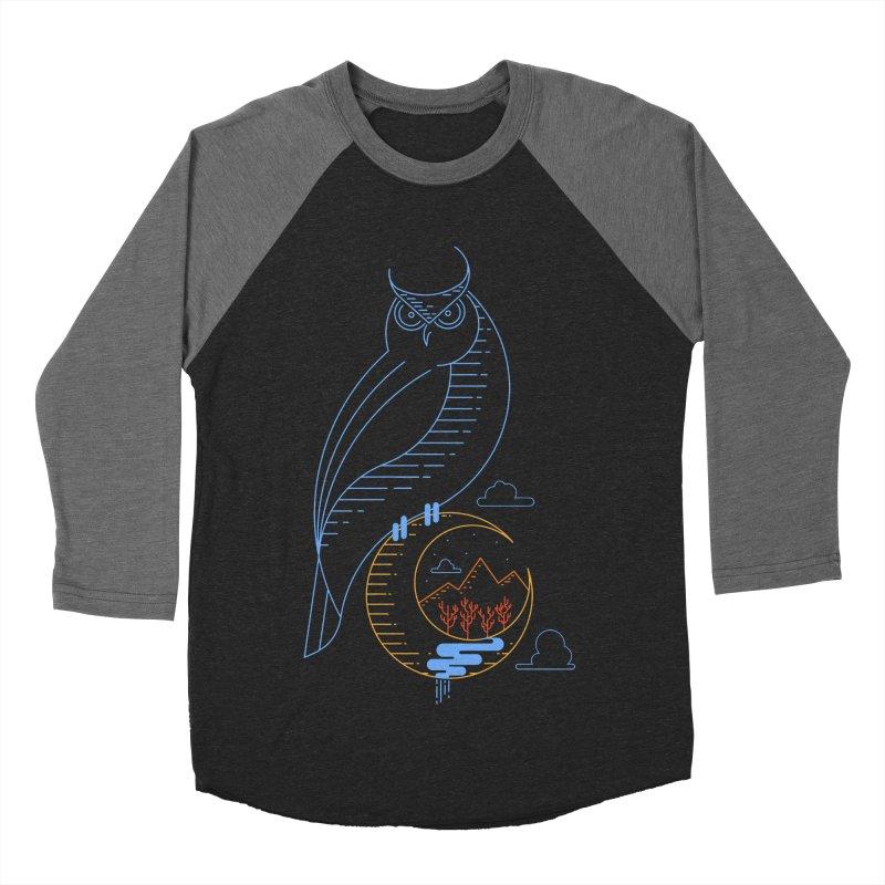 Night Owl Men's Baseball Triblend T-Shirt by sachpica's Artist Shop