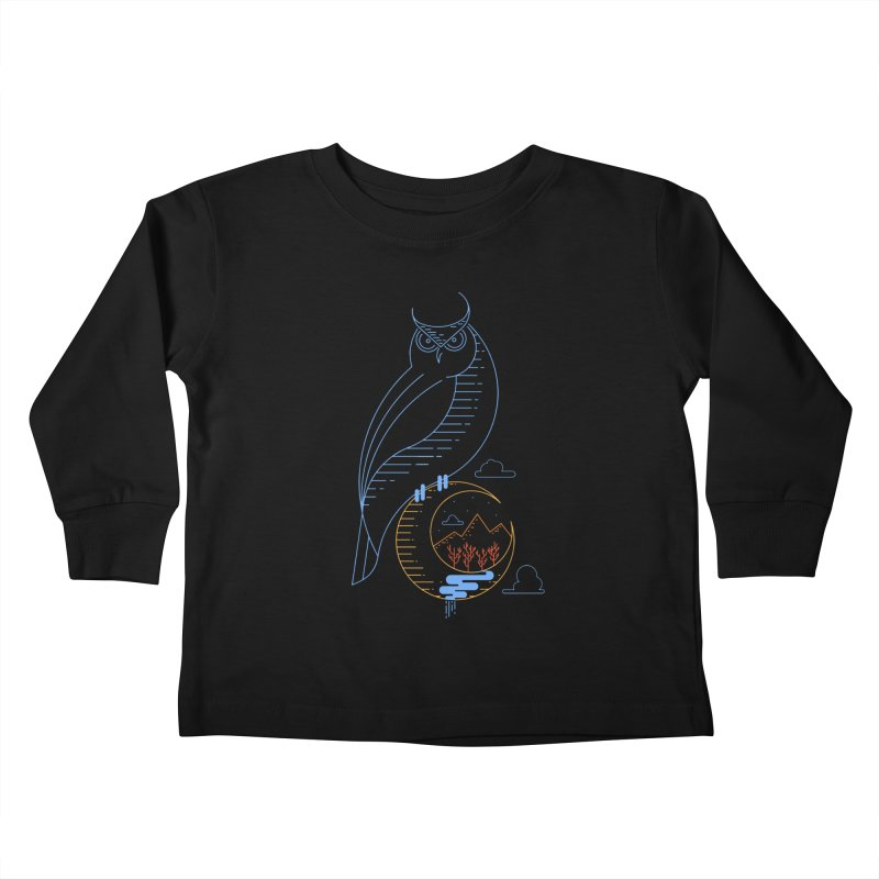 Night Owl Kids Toddler Longsleeve T-Shirt by sachpica's Artist Shop