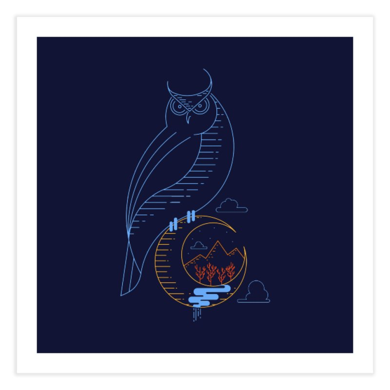 Night Owl Home Fine Art Print by sachpica's Artist Shop