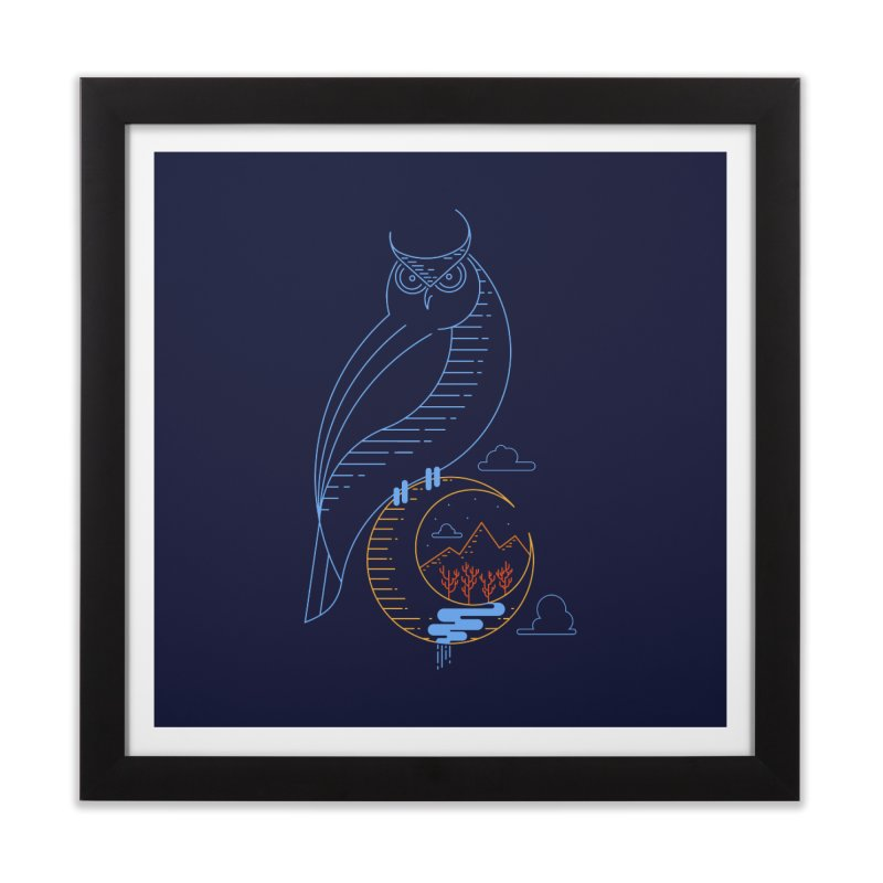 Night Owl Home Framed Fine Art Print by sachpica's Artist Shop