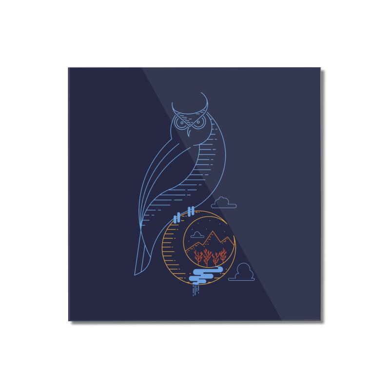 Night Owl Home Mounted Acrylic Print by sachpica's Artist Shop