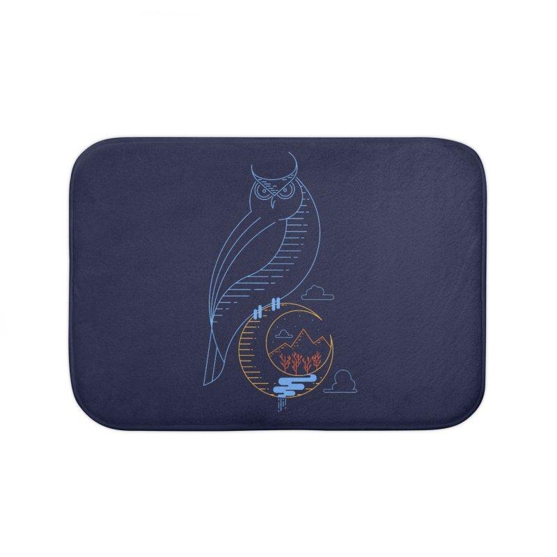 Night Owl Home Bath Mat by sachpica's Artist Shop