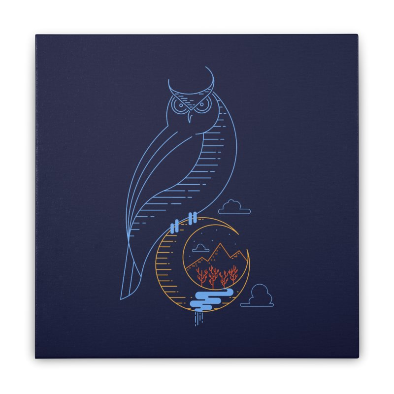 Night Owl Home Stretched Canvas by sachpica's Artist Shop